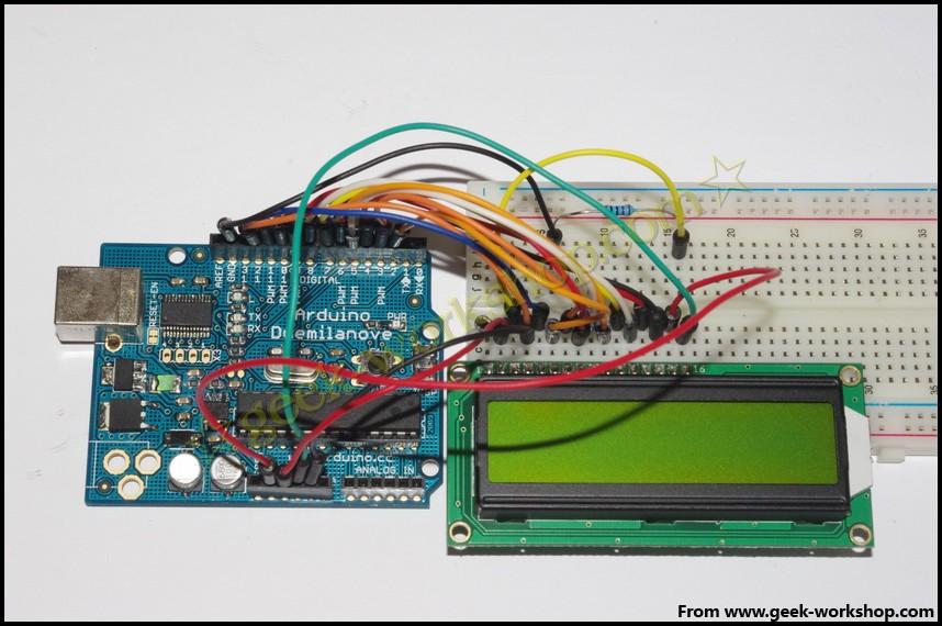 arduino学习笔记10(a) - 1602液晶实验