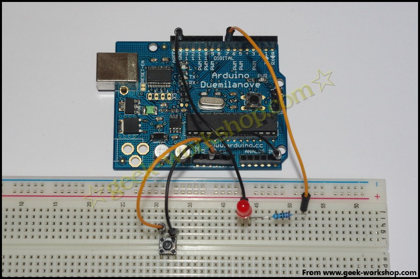 arduino学习笔记6  wbr>-  wbr>按键实验