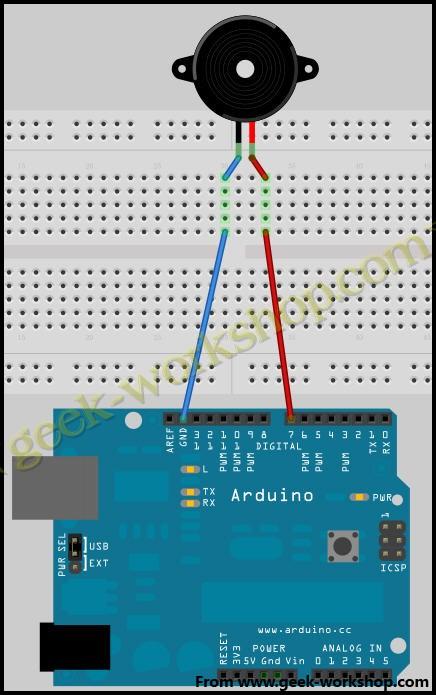 arduino学习笔记4 - 蜂鸣器实验