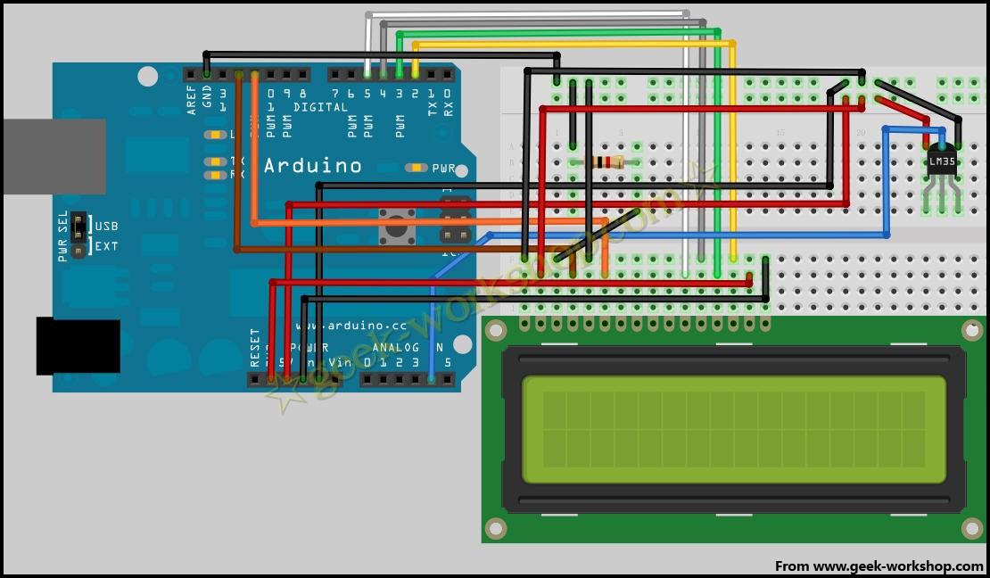 arduino学习笔记11 - 温度传感器实验