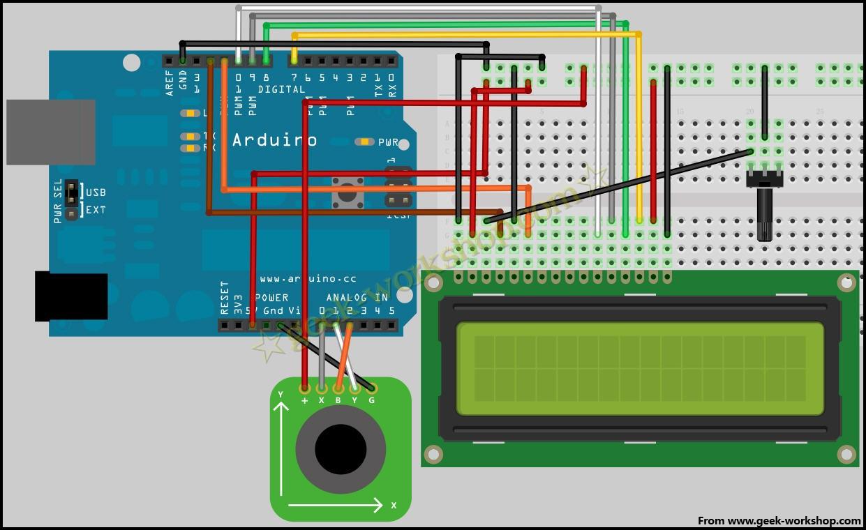 摇杆电位器硬件电路图