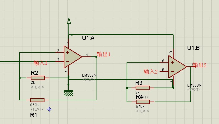 lm358的放大倍数远远超过了本身5v的电源电压的能力