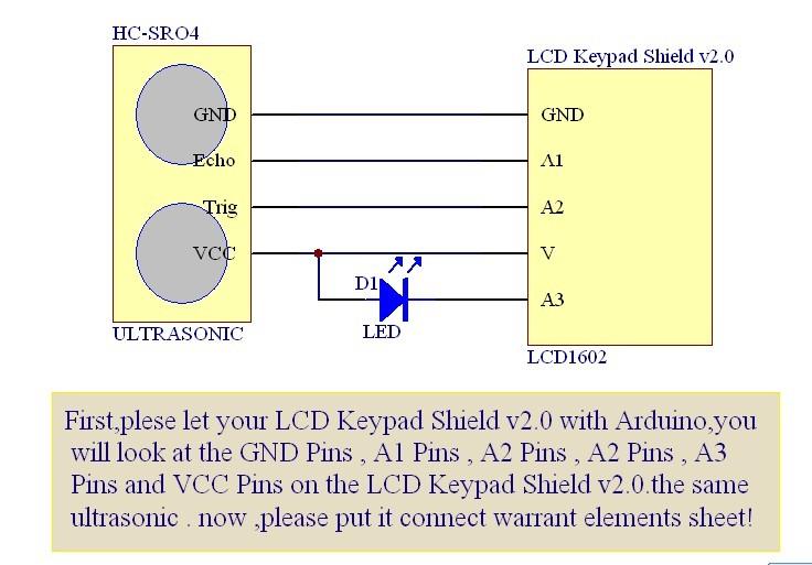 学习笔记28-用arduino控制超声波测试距离显示在lcd