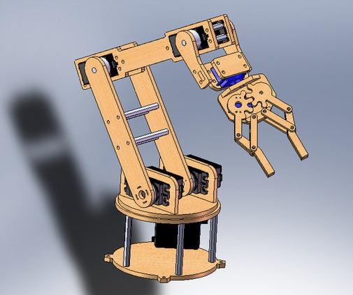7路舵机机械手diy图纸(只含机械构件)
