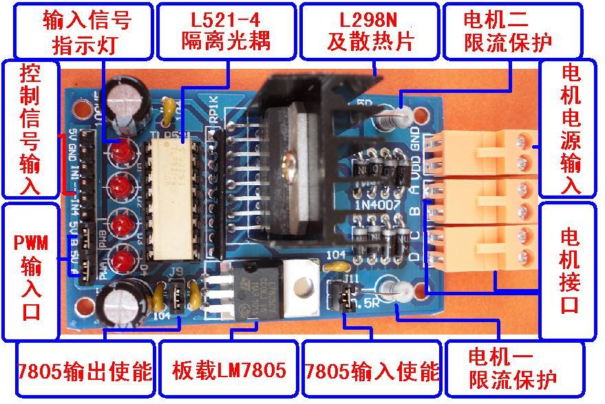 arduino 怎样通过l298n控制2轮小车