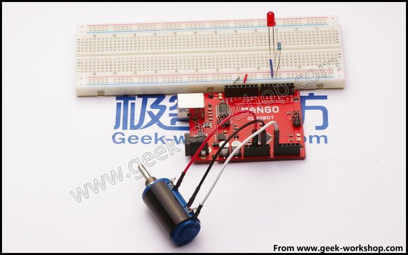 arduino 电位器 PWM