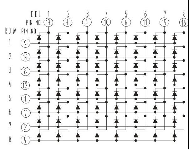 u6559 u7a0b 8x8 u70b9 u9635 u7684 u9a71 u52a8 arduino matrix led with 74hc595 x2