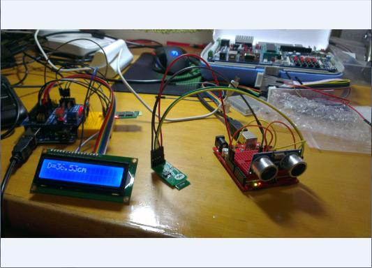超声波测距+蓝牙传输+lcd1602应用教程