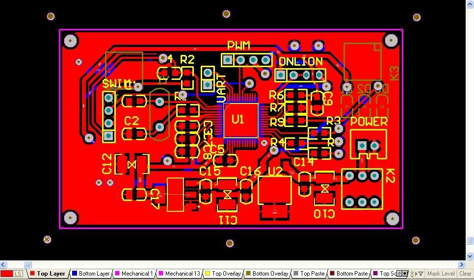 diy双层电路板 制作详解