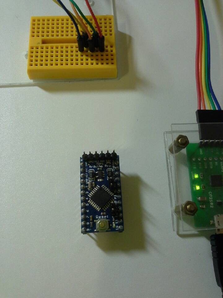 arduino mini pro 连线 cp2102 usb实现自动rst
