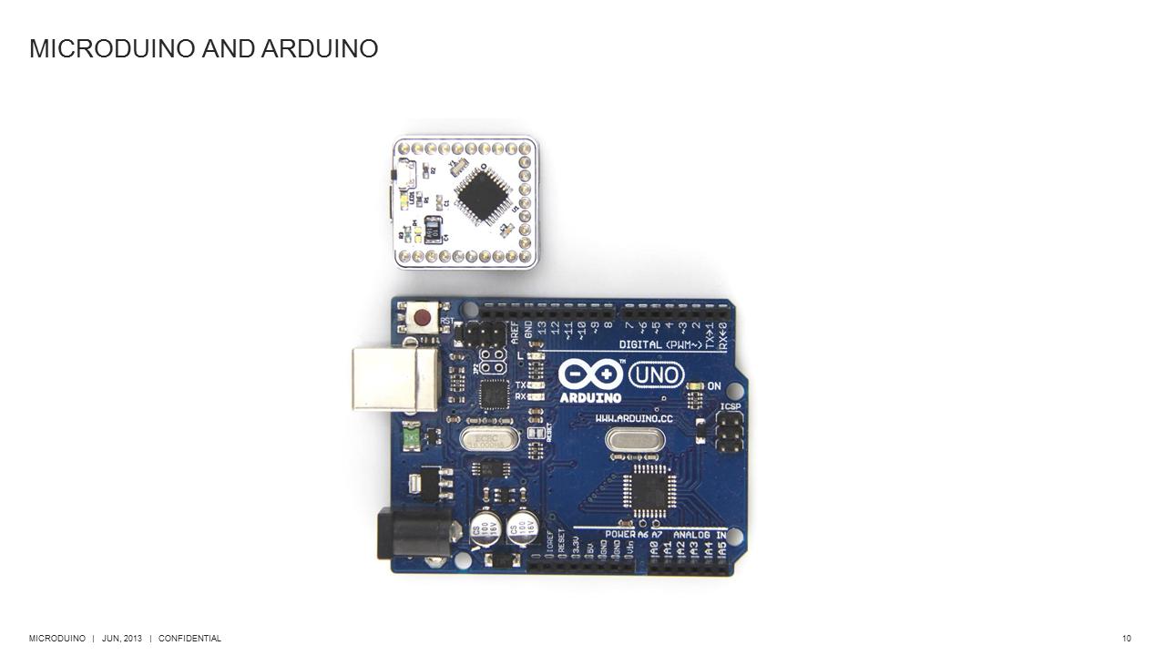 from arduino to microduino .