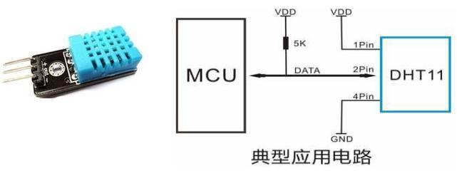dht11传感器电路图