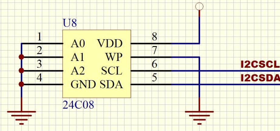at24c02 stm32 电路图