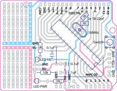 论坛 69 热门讨论区 69 arduino 69 电路板连接问题请教!
