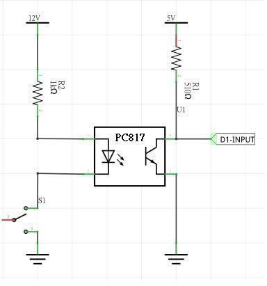 关于单芯片光耦输入电路