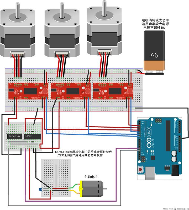 Arduino机械坊学习笔记02(用grbl控制电动机) 2014 3 1 Powered By Discuz