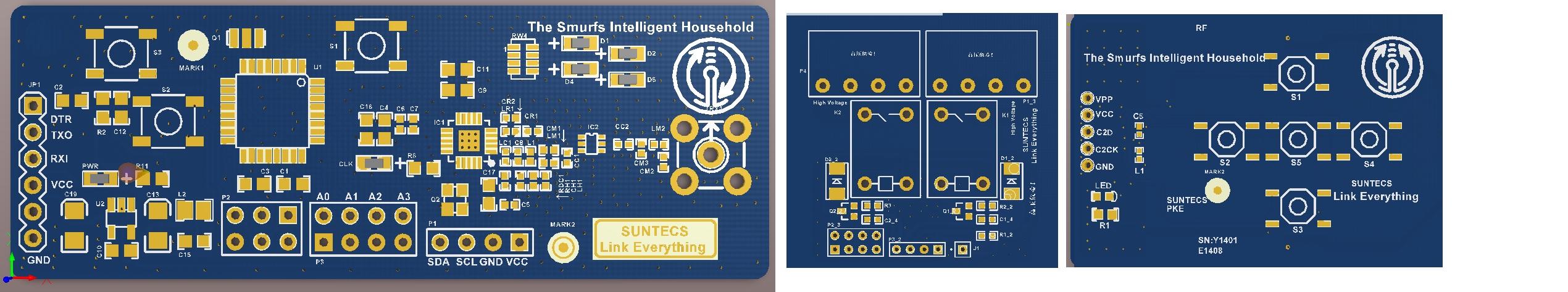 arduino si4432主板 继电器板 rf遥控器板