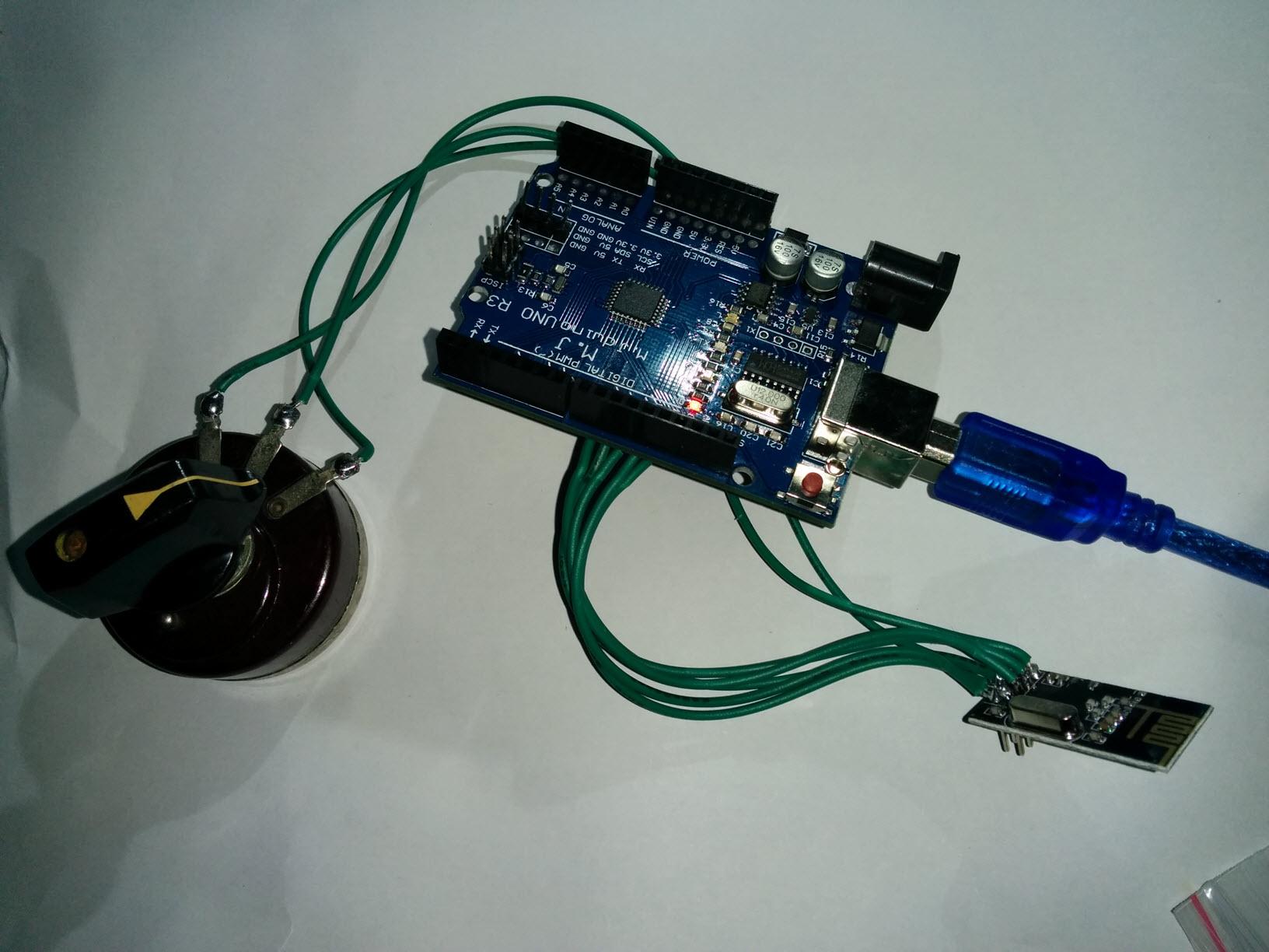 arduino连接nrf24l01无线收发模块
