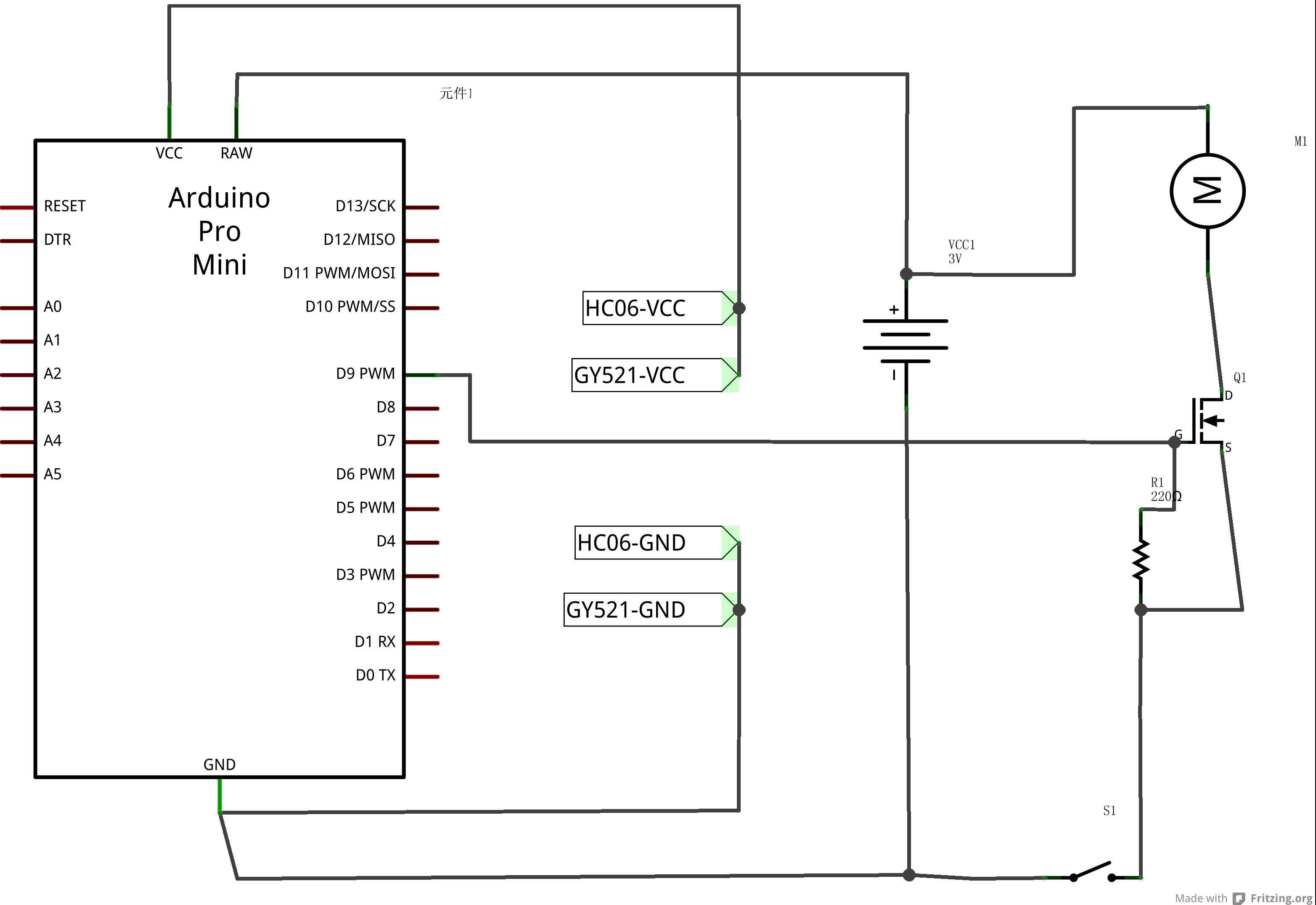 电机正反转电路图arduino
