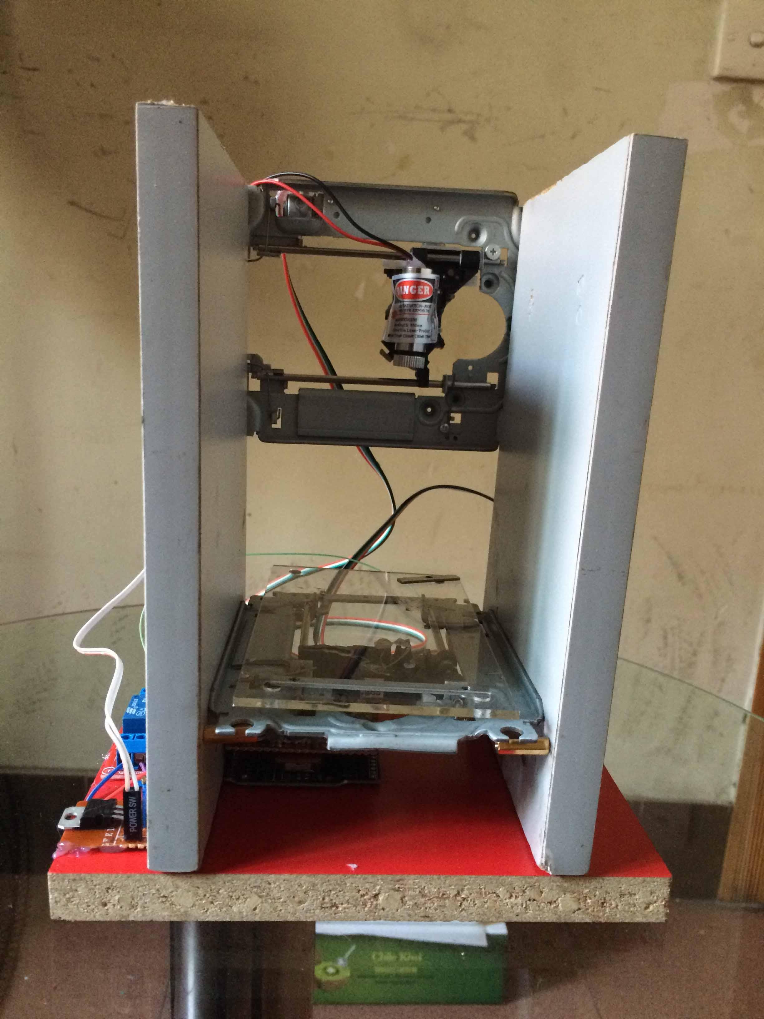 【雕刻机】基于arduino光驱雕刻机!