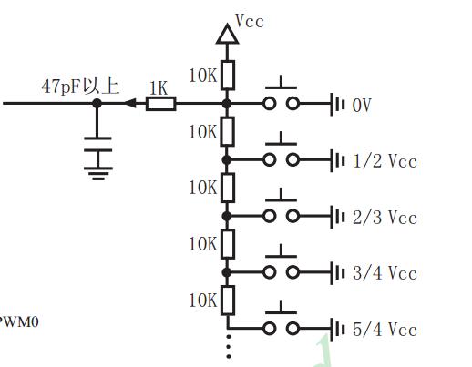 我们常见的mp3播放器的按键电路有些就是用的 ad.