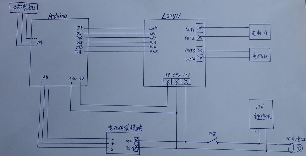 机器人arduino周边电路连接就很容易