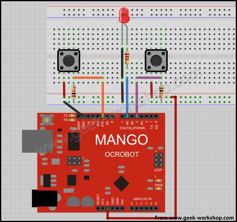 arduino pwm 调光电路连接图