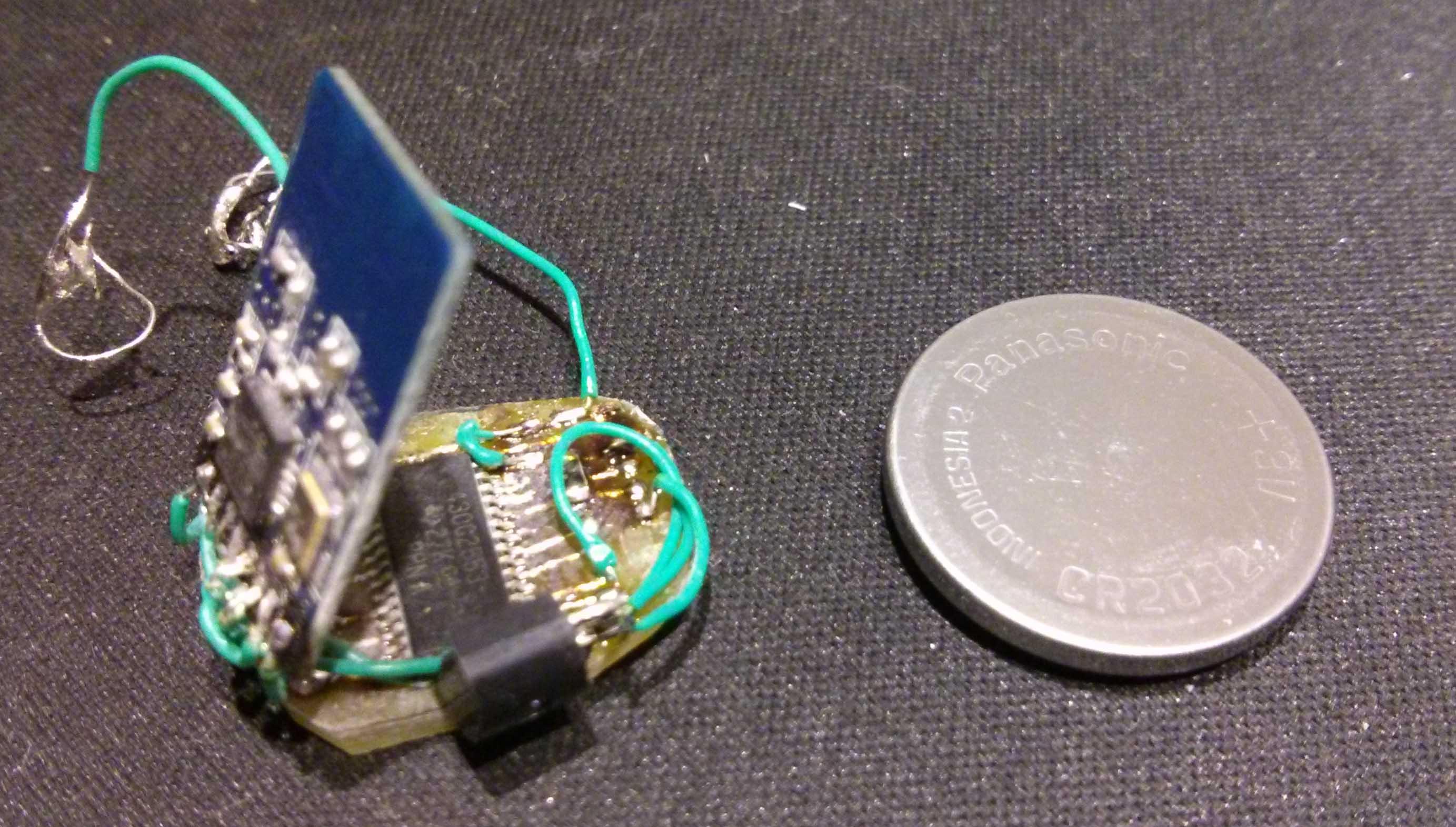 4s无线模块_T-Bug [DIY无线温度测试点demo]- Energia+Enrf24+CR2032+飞线 - Energia(MSP430 ...
