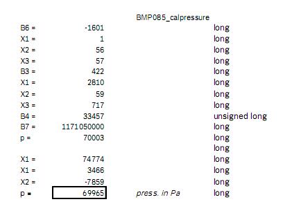 BMP085测压