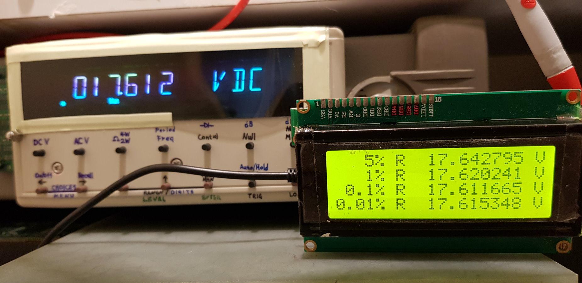 第二次使用34401A 6位半電表測量阻值後再代入算式